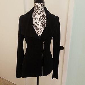 Asymmetrical work blazer